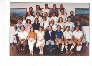 Kiama High School staff 1981